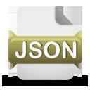Ícone de download do arquivo JSON