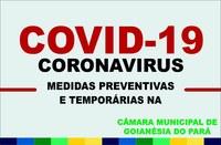 Medidas Preventivas Câmara Municipal